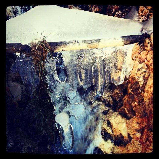 frozen branche river instaleb bal3a lebanon ...