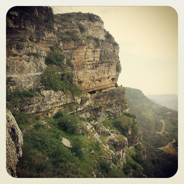 Niha Fortress carved rocks cave Nature amazing view Lebanon...