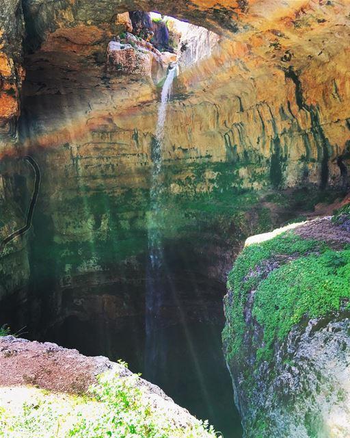 tb 🔙 destination 5 spring waterfall water nature naturelovers... (Tannourine-Balou3 Bal3a)