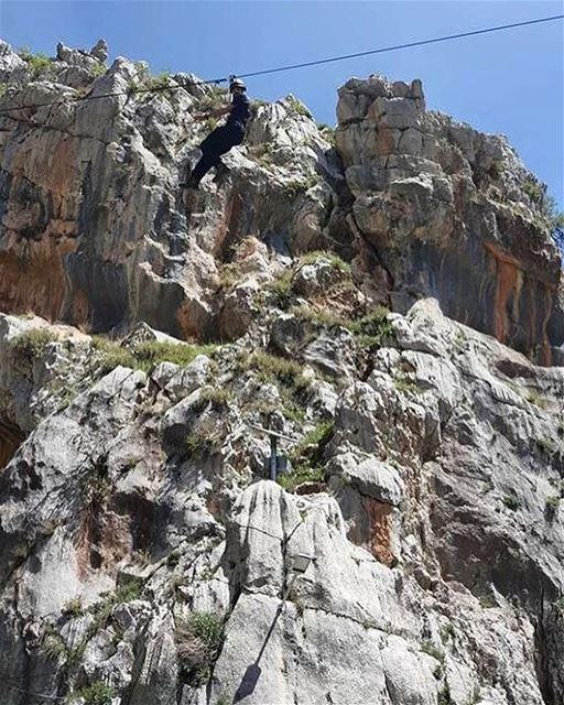throwback destination 5 zipline ziplining adventure adventuretime... (Tannourine-Balou3 Bal3a)