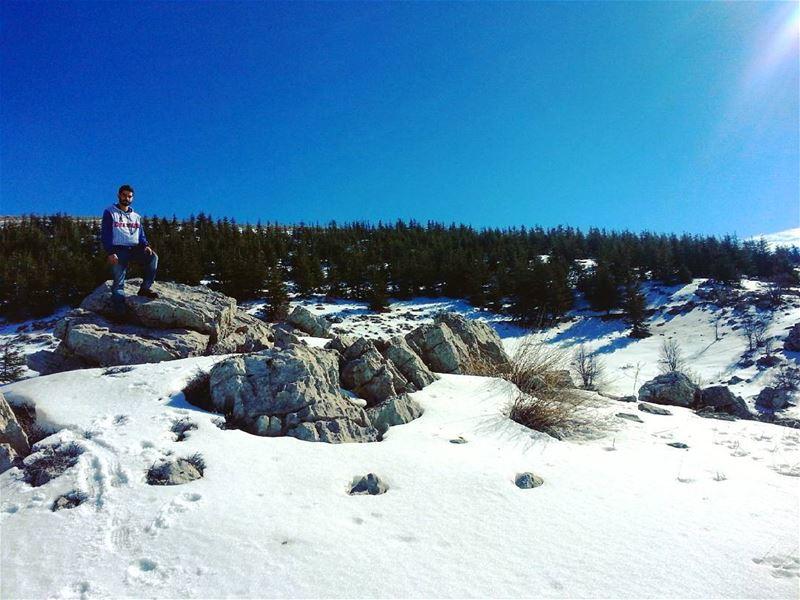 Hiking nature hikers naturelovers hike hikingtrail hikingsports... (Bâroûk, Mont-Liban, Lebanon)