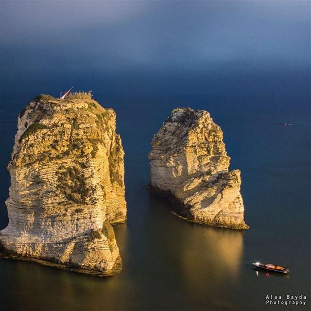 rawche beirut lebanon rocks rock soil boat mrayse lebanon livelovelebanon...