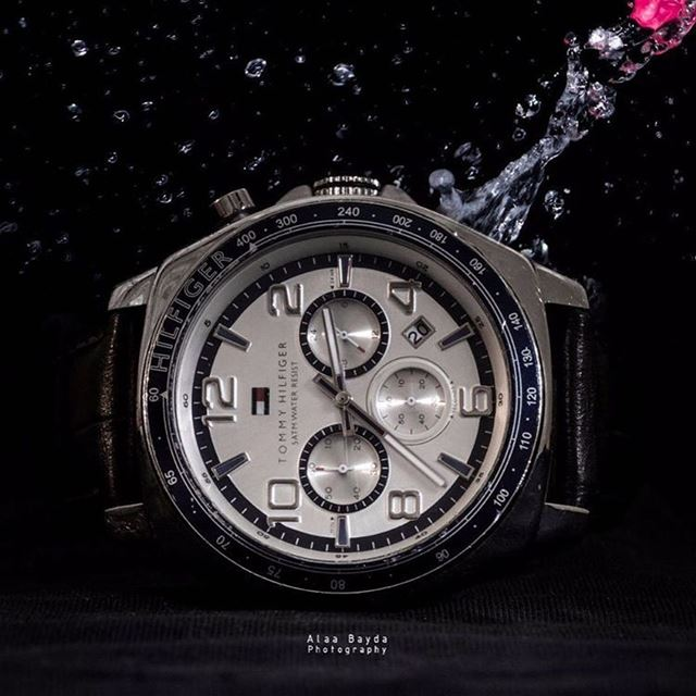 watch photography tommyhilfiger 5atmwater night black nikon waterresist...