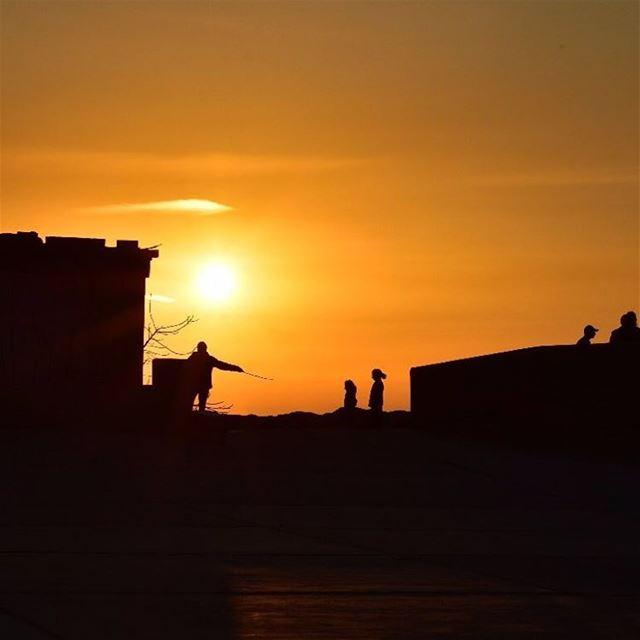 lebanon kalamoun tripoli northlebanon sunset silhouette sun orange dusk...