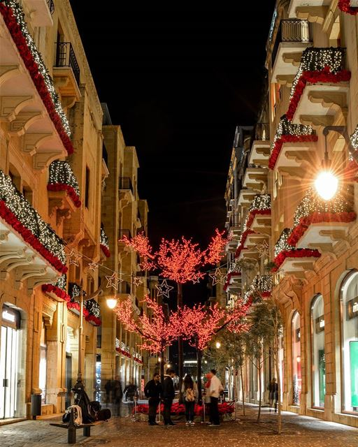 .First Christmas decorations | Downtown of Beirut this evening | Good... (Downtown, Beirut, Lebanon)