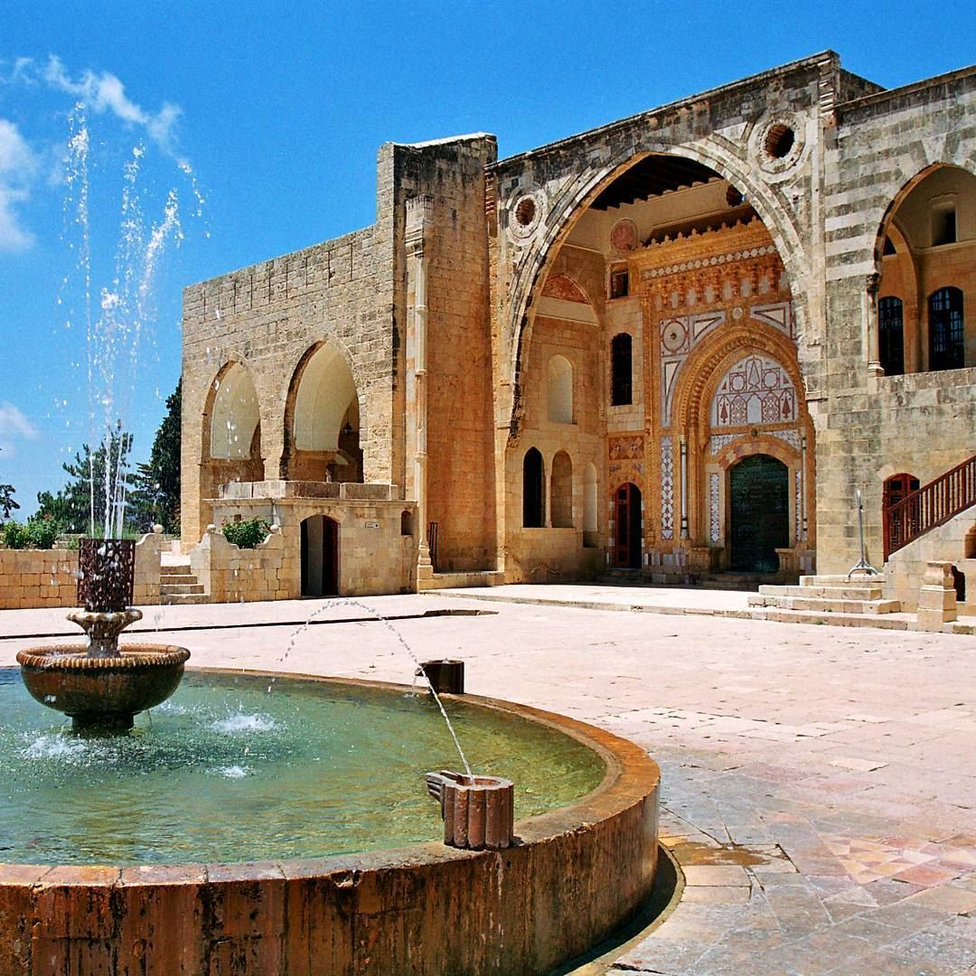 Beautiful architecture of the 19th century palace.(Beit Ed-Deen, Mont-Liban, Lebanon)