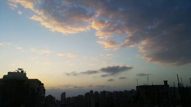 .Beautiful Sky, Clouds, and sunset colors. Timelapse over Beirut. 11-4-201 (Beirut, Lebanon)