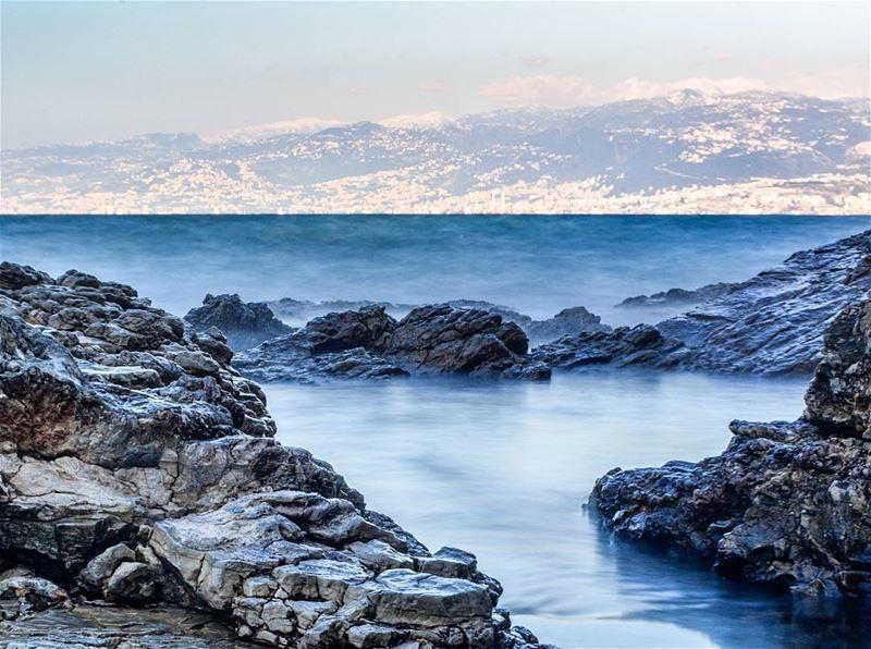 .Ein el mraisse Sea. Long exposure using ND filter and Nikon D5200 Camera...