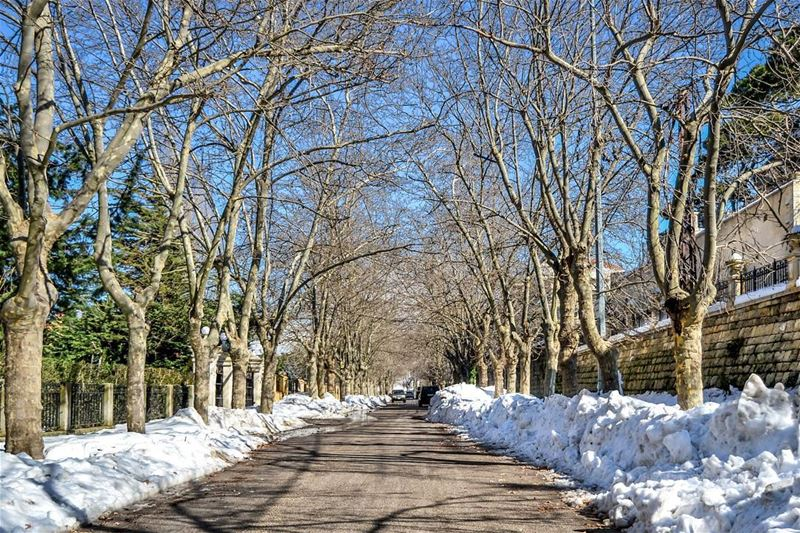 .Good evening dear friends this is Sawfar after the Last snowstorm... (Corniche Sawfar)