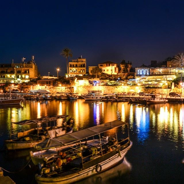 Good evening from Byblos! Summer nights and Water reflection....