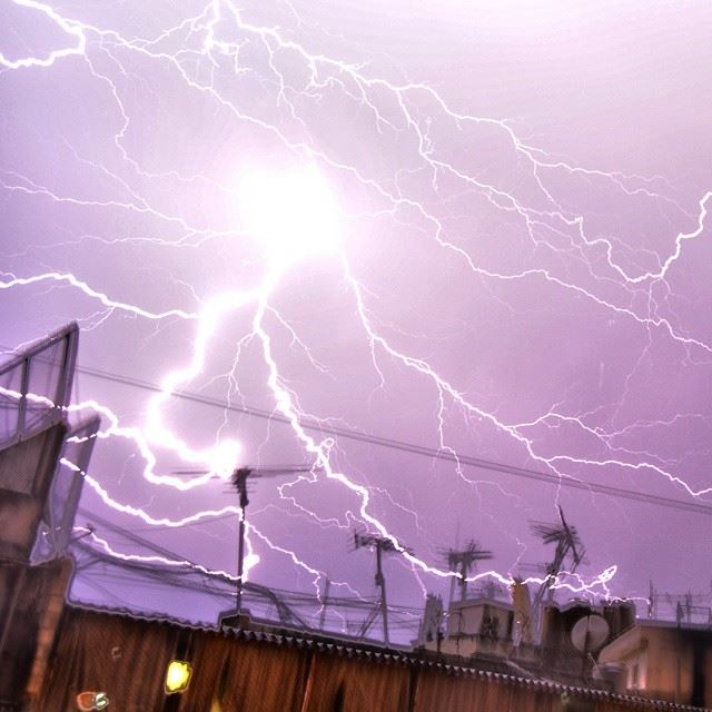 """The Angry storm""Another Severe T-storm over Beirut! !!LIVE!""The Angry..."