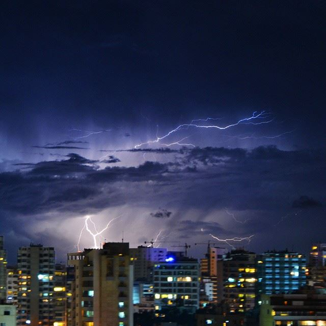 Thunderstorm now over beirut !!Camera : nikon d3200. Shot taken by me. ...