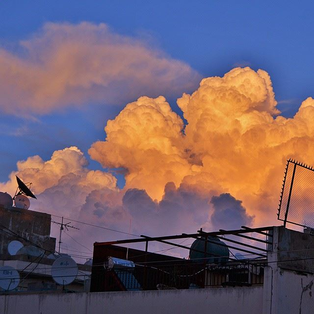 Sunset storm over my city today..Camera : nikon d3200.  nature  clouds ...