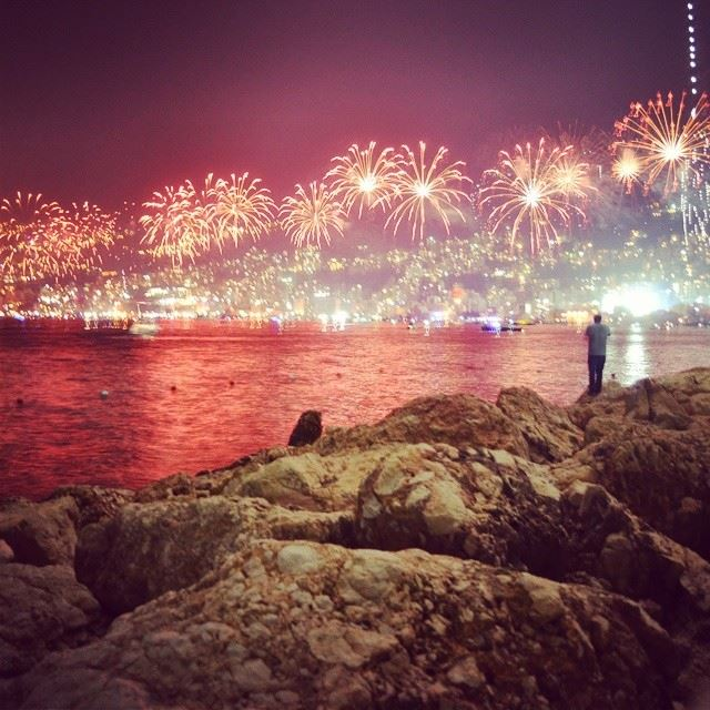 Jounieh Bay Fireworks. 27 June 2014. Shot taken by me. Camera : Nikon...