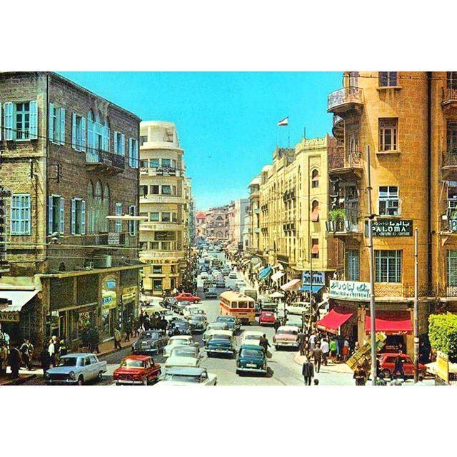 Beirut Weygand Street 1971 .