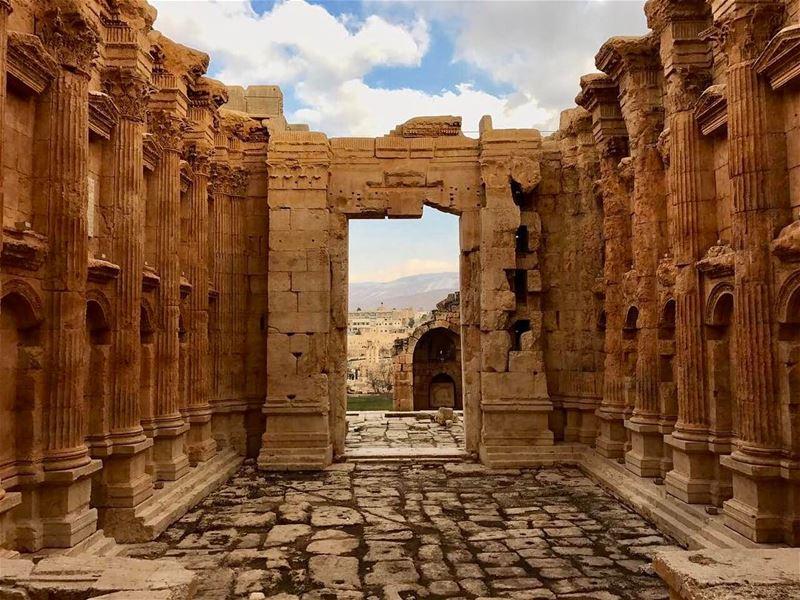 Bakhos temple baalbek lebanon history romanruins livelovelebanon ... (Baalbek Temple)