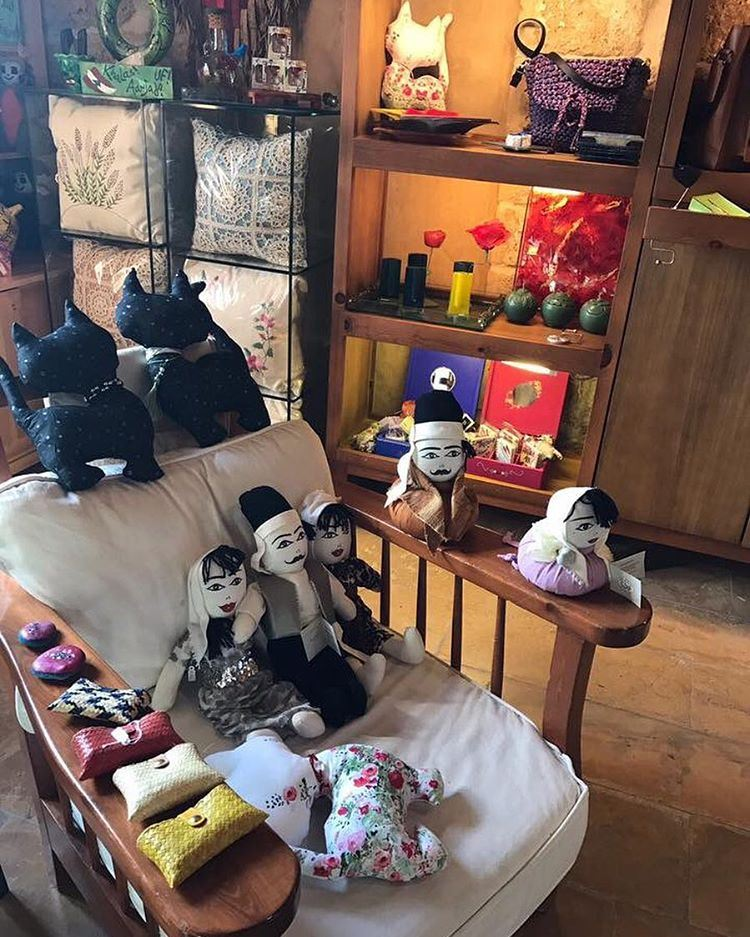 Our JabalMoussa stop doors, traditional dolls and pillow cats are...