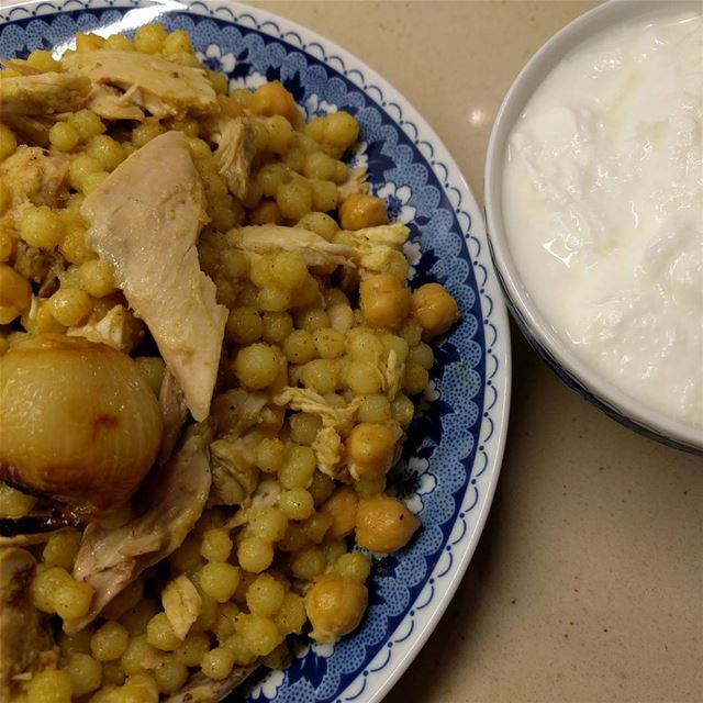 lebanesefood moghrabieh foodlovers dinnertime dinner yummy😋 ...