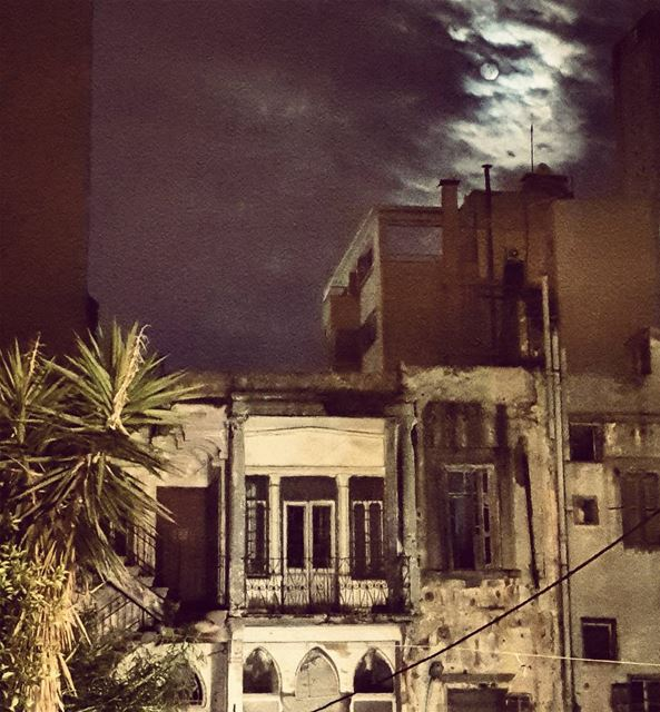The perfect Imperfection..🌚.................. moon ... (Beirut, Lebanon)