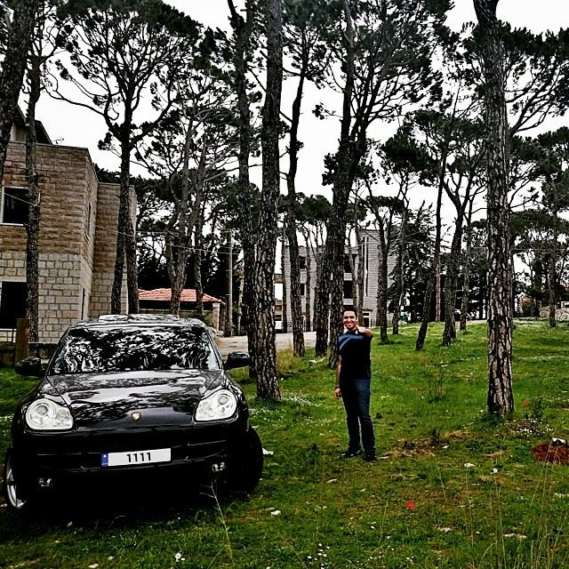 End of March.. me  lebanon  nature  spring  march  my  Porsche  Cayenne ... (Dhour Chouier)