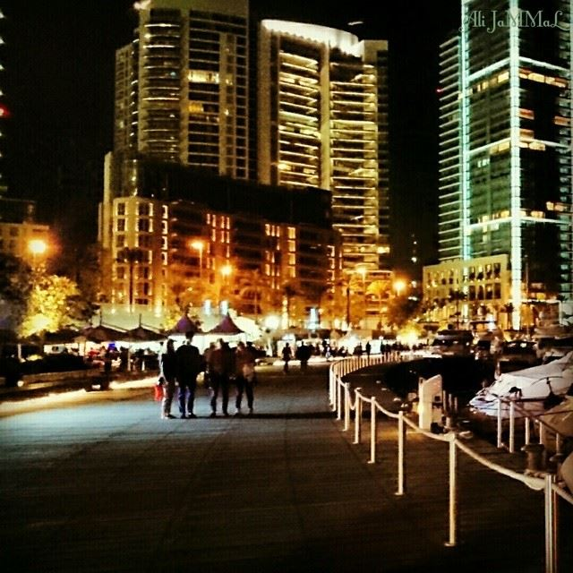 Beirut Night Life 🌃 Beirut lebanon night life zaitunay_bay ... (Zaitunay Bay, Beirut)