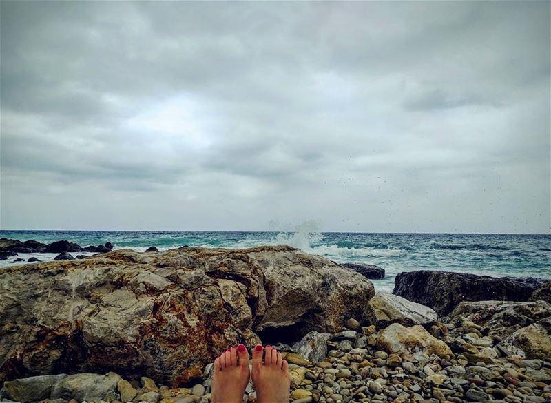 Serenity at its best batroun lebanon beach peace awesomeearth ... (Al Batrun, Liban-Nord, Lebanon)
