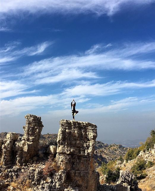 Leave your Fear Behind... Adventure is UP there 🎈 LMTtrail adventure ... (Douma, Liban-Nord, Lebanon)
