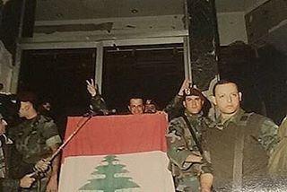 """التاريخ يعيد نفسهع بيت الشعب راجعين""""يا شعب لبنان العظيم"""" ١٩٨٩ president..."""