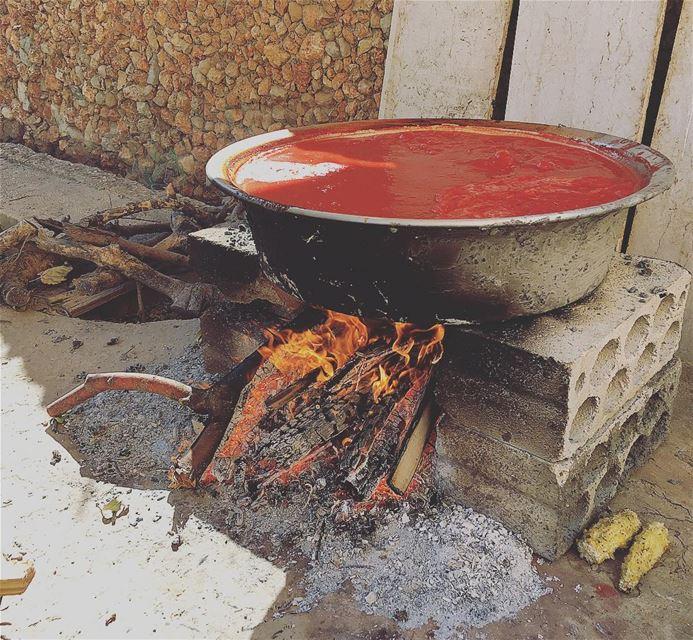 رجعت الشتوية... 🍅🍅🍅 saghbine westbekaa food heritage foodheritage ... (Saghbîne, Béqaa, Lebanon)