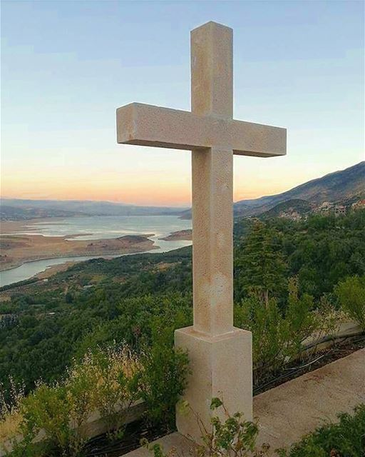 L❤ve is my Religion westbekaa cross love religion hometown sunset ... (Saghbîne, Béqaa, Lebanon)