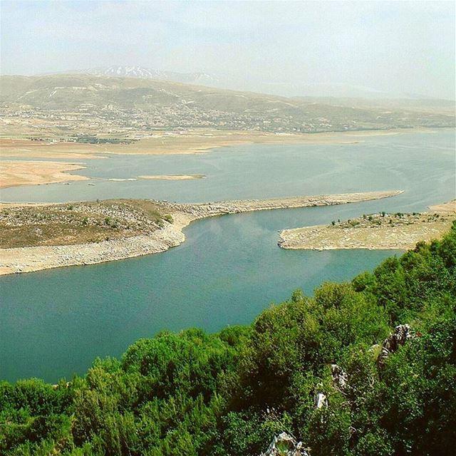 Part 1/3: My Hometown 🏡 hometown bekaa quaraounlake landscape water ... (Saghbîne, Béqaa, Lebanon)