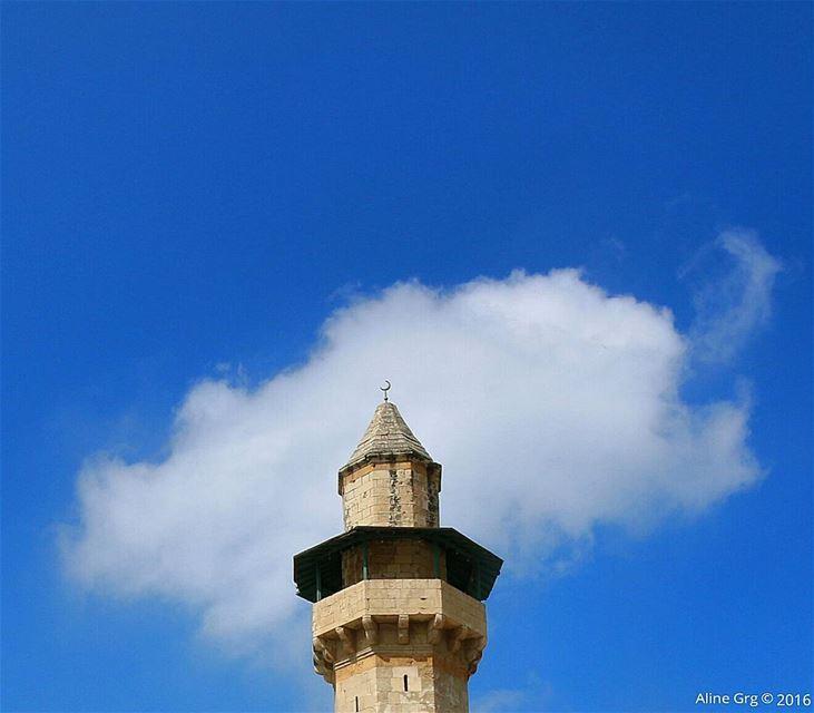 """...المئذنة..عرائس السماء""""مسجد الامير فخر الدين المعني"""" tb cloud ... (Deïr El Qamar, Mont-Liban, Lebanon)"""