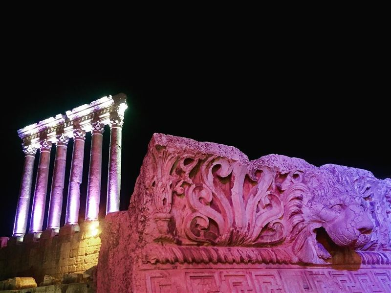 At night (summer 2016) for the opening of baalbeck festival, the 'silk... (Baalbek, Lebanon)