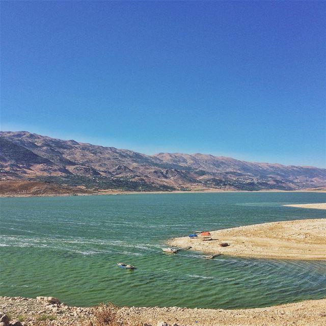 •Missing my Bekaa• qaraounlake HuntgramLebanon huntgram huffpostgram ... (Lake Qaraoun)