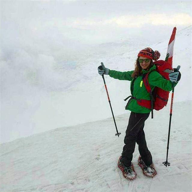 Snowshoeing in Jabal el kneissy livelovelebanon ptk_lebanon... (Jabal Al Kneyseh)