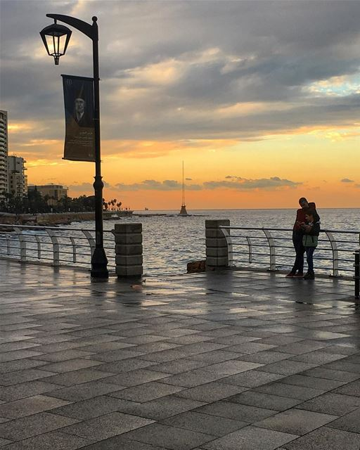 A walk on a beautiful weather sea ocean walk sports beirut cloud ... (Ein el Mraysseh)