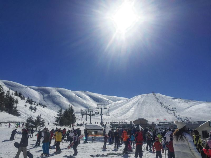 Tuesday Crowd ... (Faraya Mzaar ski resort)