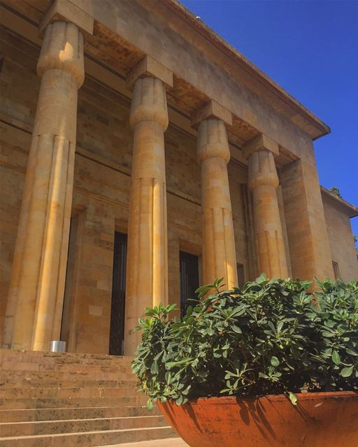 The museum was designed in a French inspired Egyptian Revival... (National Museum of Beirut)