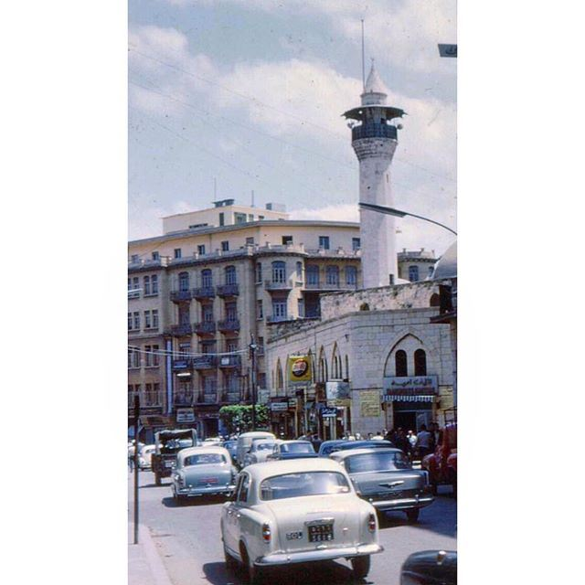 """Beirut """"Emir Assaf Mosque"""" Near Martyrs Square in 1963 ."""