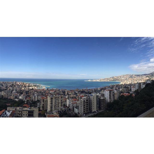 sunny saturday 😎☀️ livelovejounieh insta_lebanon jounieh panorama ... (Joünié)
