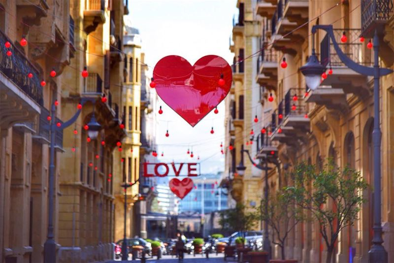 I'm in love with this city @livelovebeirut happy Valentine's Day dear...