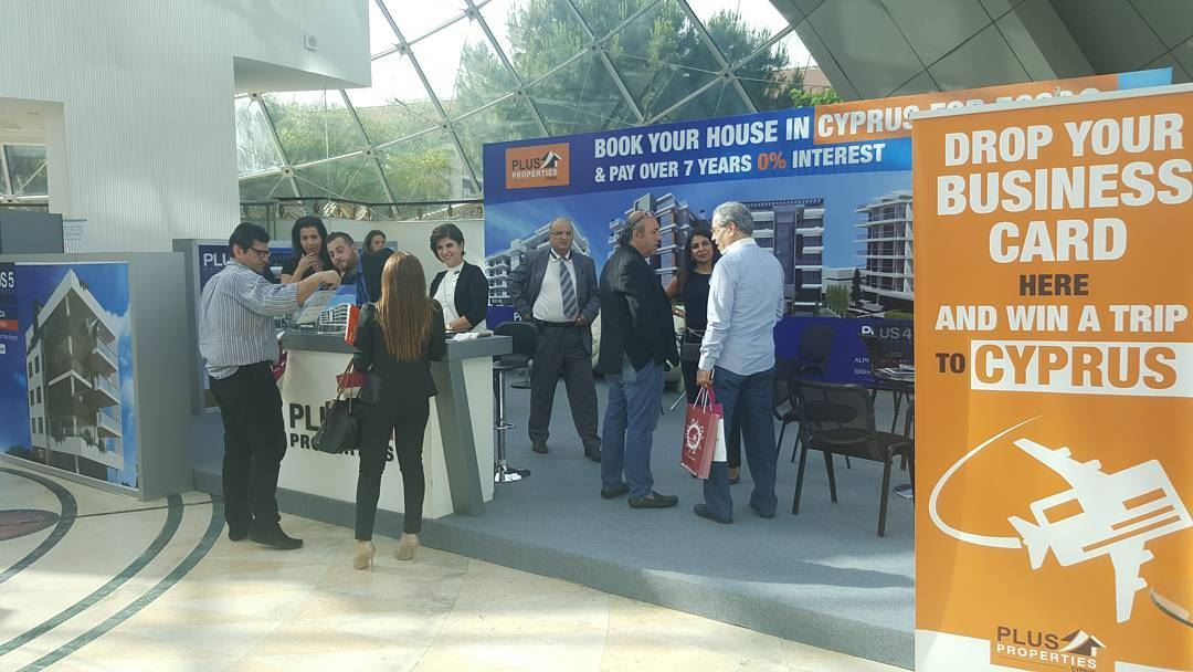 Beirut International Property Fair has begun and potential clients are... (Hilton Beirut Habtoor Grand)