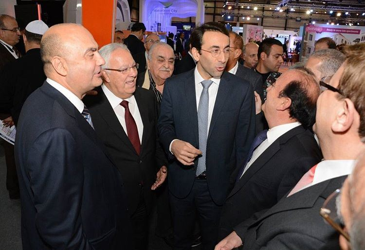 The President of Beirut Municipality - Mr. Ziad Chbib during his visit to... (Biel Exhibition)