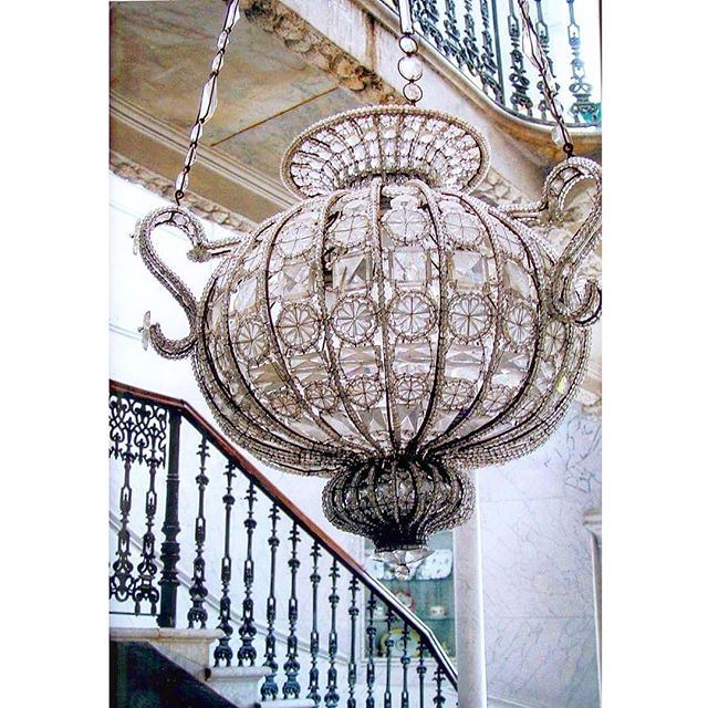Beirut Sursock Palace , Crystal Chandelier .