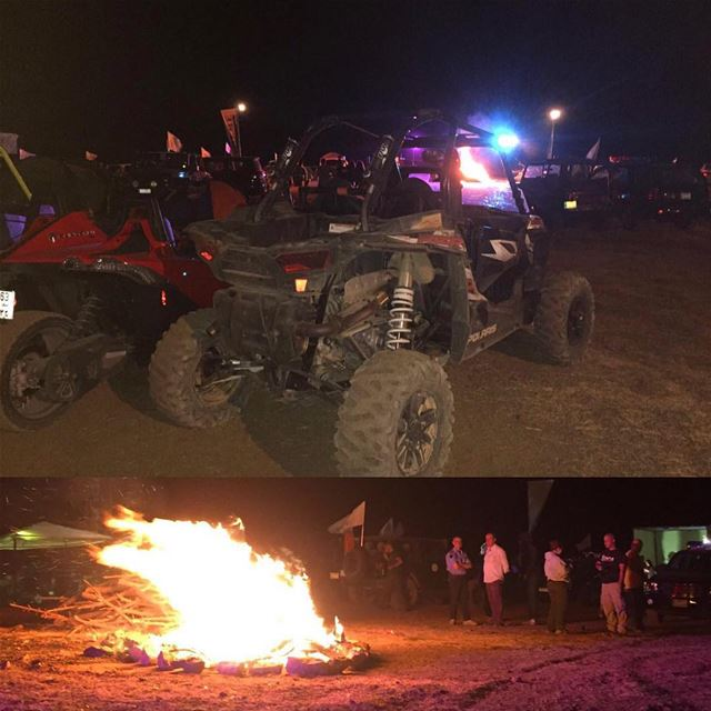 Lining up near the bonfire 🔥 zaarour  rzrs  motorcross  4x4  polaris ...