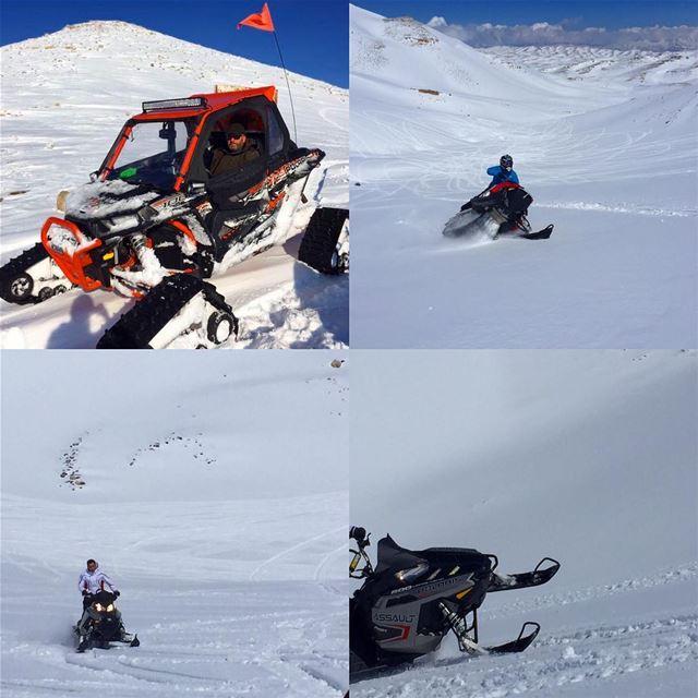 End of Season Fun... bigtoys snow snowmobile snowmobileseason ...