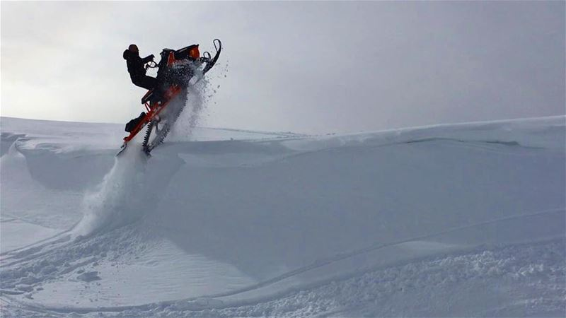 Great Shot by Mohammad Tarraf braap riding friends snowmobile flying ...