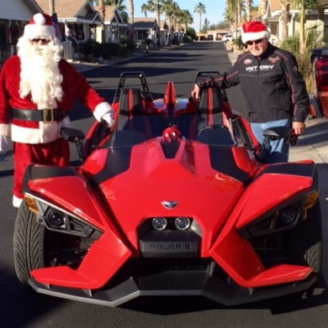 Santa's got his Toy! For more info : +961 1 644 442 slingshot letsride...