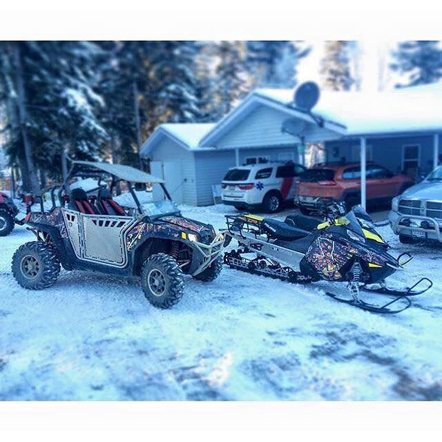 HOME is where the RZR is ( and Polaris Snowmobile too 😉)For more info : +
