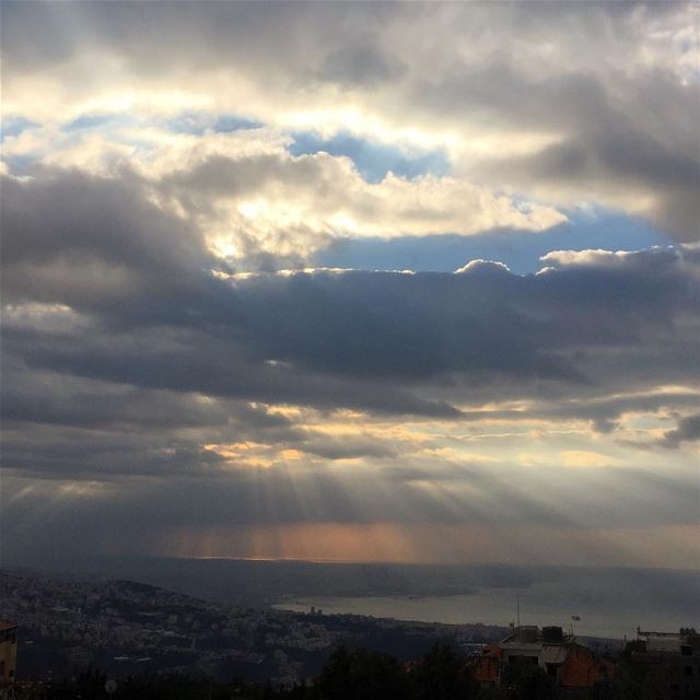 mediterranean  clouds  beautifulview  beirut  beirutconnected  colorful ...